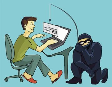 An image featuring man-in-the-middle attack concept