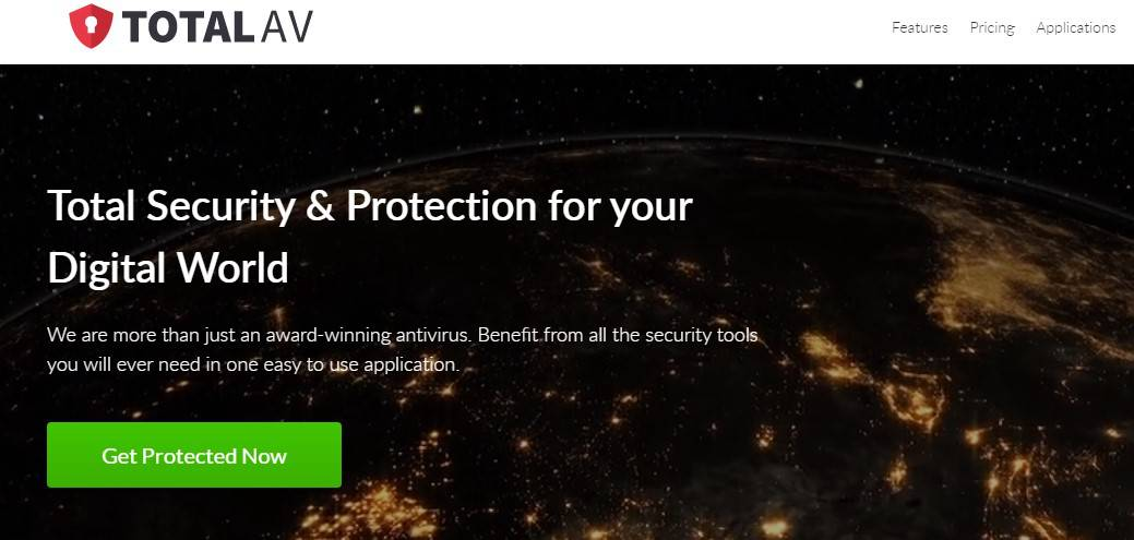 An image featuring TotalAV antivirus