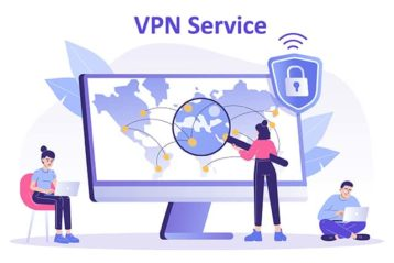 An image featuring VPN service concept