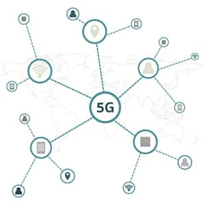 An image featuring 5G network architecture concept