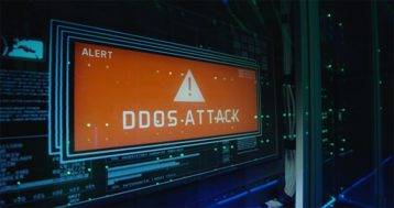 An image featuring a DDoS attack concept