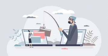 An image featuring spear phishing victim concept