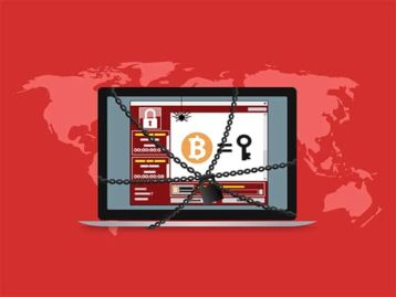 An image featuring the wannacry ransomware concept