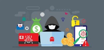 An image featuring cyber threats concept