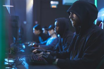 An image featuring a competition of hackers concept