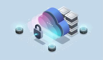 An image featuring secure data concept