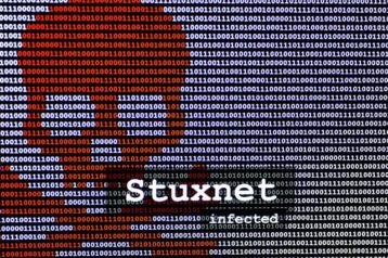 An image featuring Stuxnet worm concept