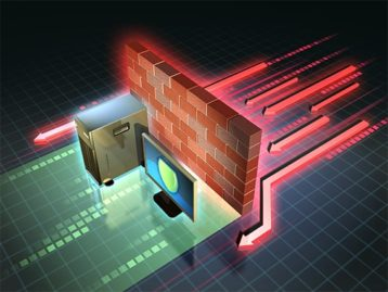 An image featuring the protection of a firewall concept
