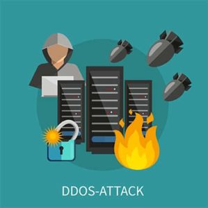 An image featuring DDoS attack concept