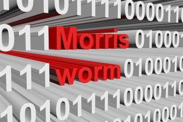 An image featuring a text that says Morris worm concept
