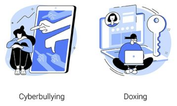 An image featuring cyberbullying and doxing concept