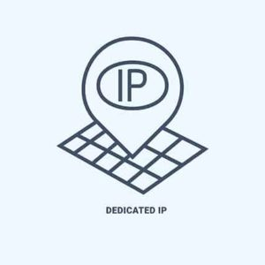 An image featuring an dedicated IP address concept