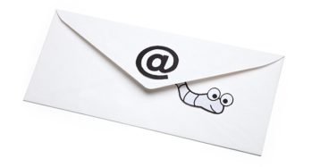An image featuring an email worm concept