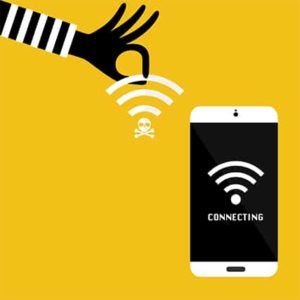 An image featuring wifi eavesdropping concept
