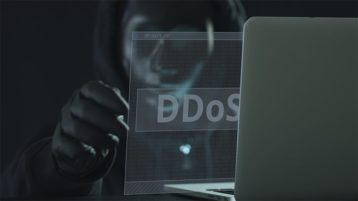 An image featuring DDoS hacker concept