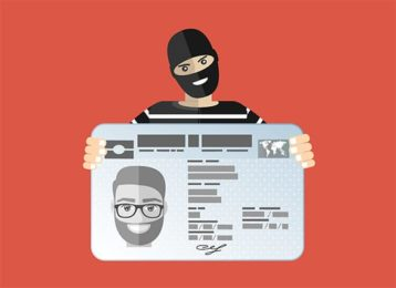 An image featuring data theft and identity fraud concept