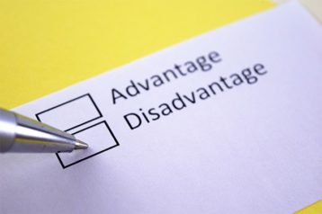 An image featuring advantages and disadvantages concept