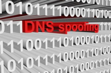 An image featuring DNS spoofing concept
