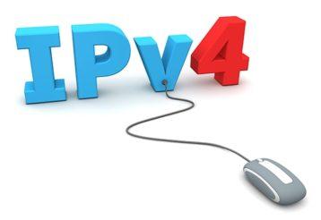 An image featuring an IPv4 address concept