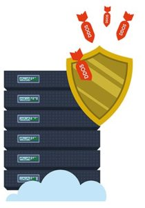 An image featuring DDoS protection concept