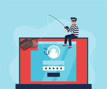 An image featuring Netflix account phishing concept