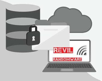 An image featuring the REvil ransomware concept