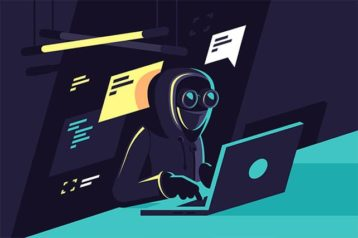 An image featuring a DDoS hacker concept