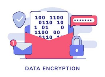 An image featuring encryption concept