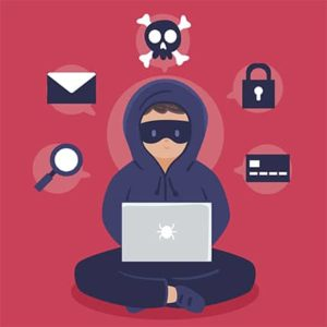 An image featuring hacker doing research concept