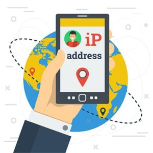 An image featuring IP address communication concept