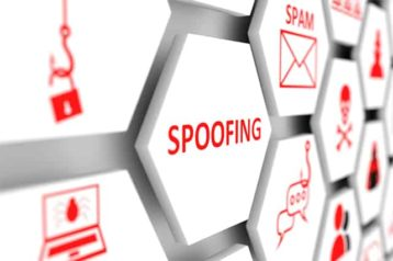 An image featuring spoofing types concept
