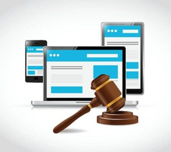 An image featuring cyber law concept