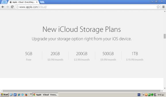 iCloud Storage Space