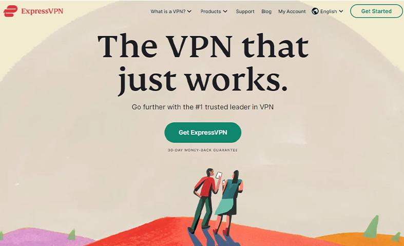 ExpressVPN homepage image