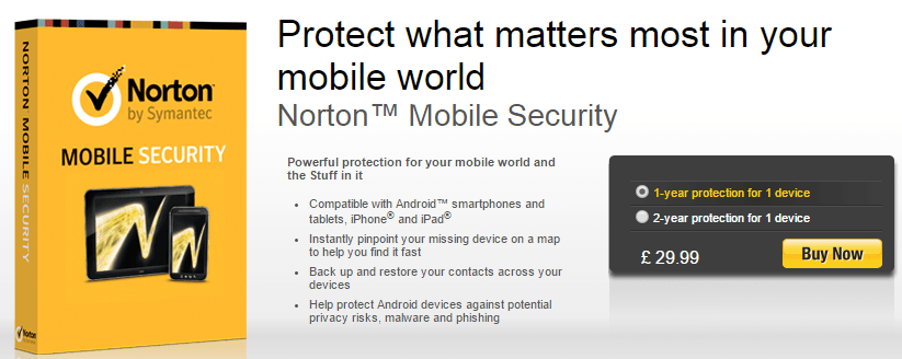 Norton Tablets Security