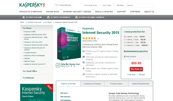 KasperSky Tablet Feature