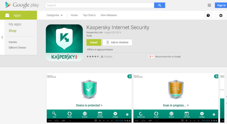 Kaspersky Internet Security for Android Review