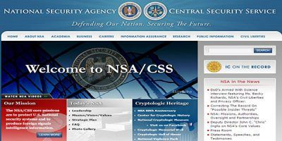 screenshot of NSA website