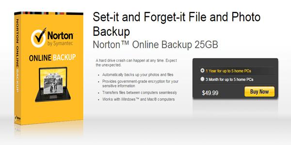 Norton Online Backup Pricing