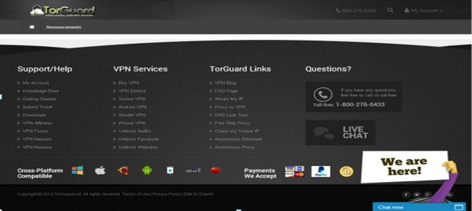 TorGuard Smart DNS Help and Support