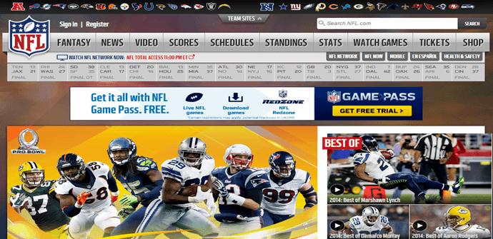 Watch NFL Game Pass Anywhere