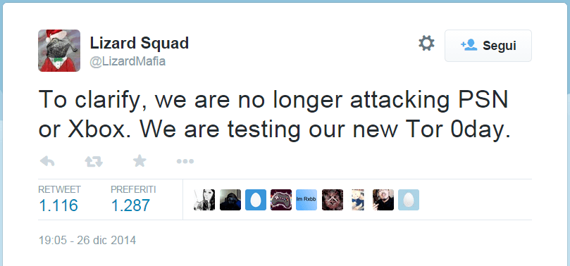 Lizard Squad Now Targeting Tor and Defying Warnings