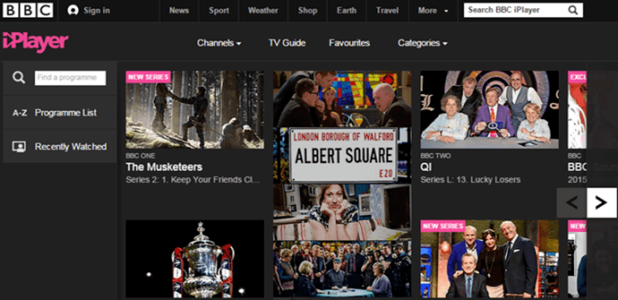 BBC iPlayer outside UK