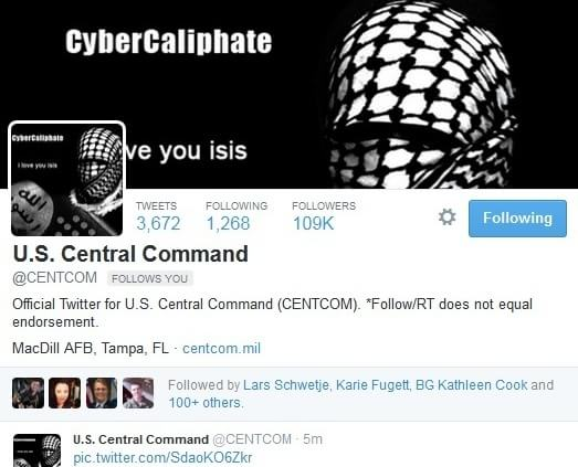 Social Media Accounts of US Military Hacked by Group Supporting ISIS
