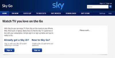 Sky Go outside UK