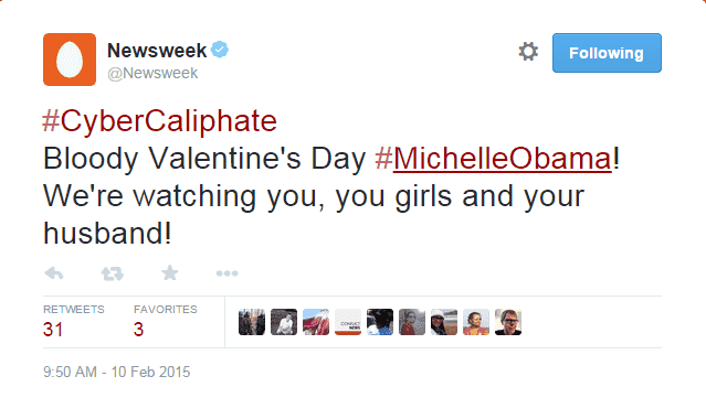 Newsweek Twitter Account Hacked by Cyber Caliphate – Obama Family Threatened