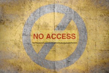 An image featuring no access concept