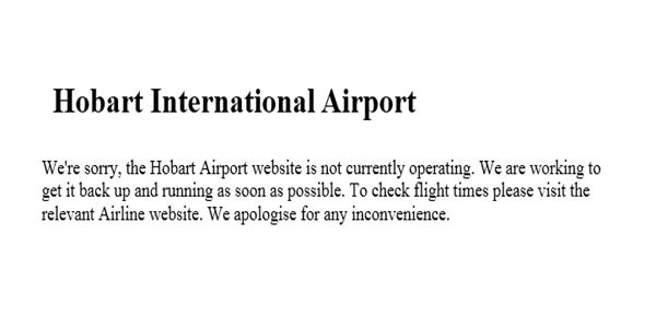 Australian Hobart international airport website hacked by ISIS