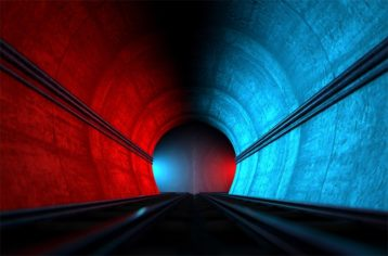 An image featuring a split tunnel representing split tunneling VPN concept
