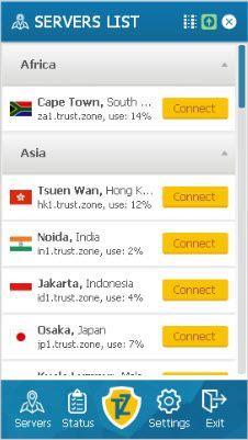 Trust.Zone serverlist
